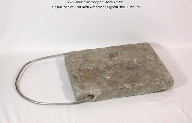 Soap Stone Foot Warmer, ca. 1900