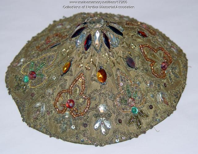 Lillian Nordica jeweled cap, 1891