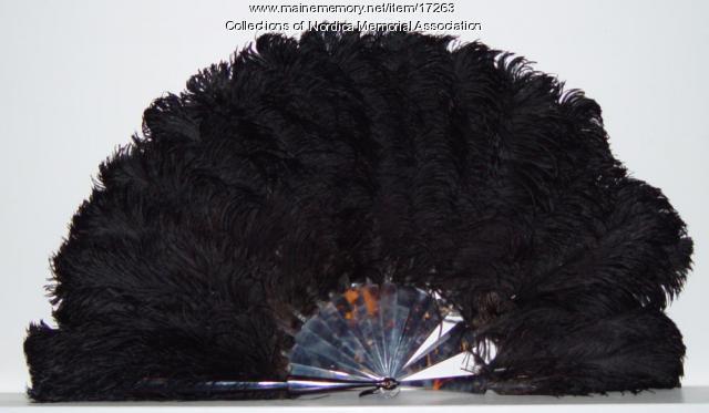 Lillian Nordica ostrich feather fan, Farmington, ca. 1903