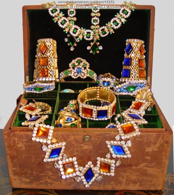 Lillian Nordica stage jewelry, ca. 1900