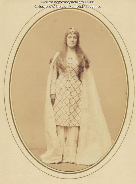 Lillian Nordica as the Bayreuth Elsa, ca. 1894