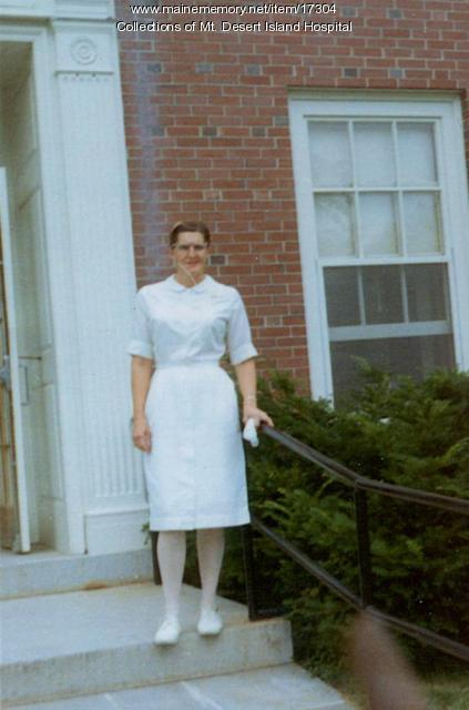 Harriet Mitchell, Mt. Desert Island Hospital, ca. 1970