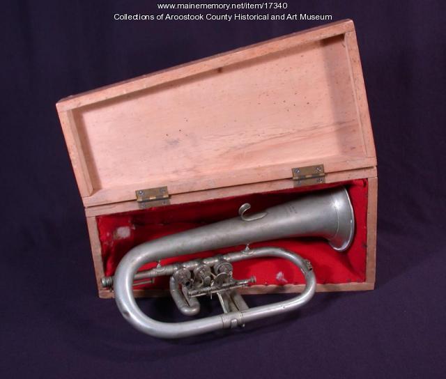 Rotary Valve Cornet and Case, Houlton, ca. 1860