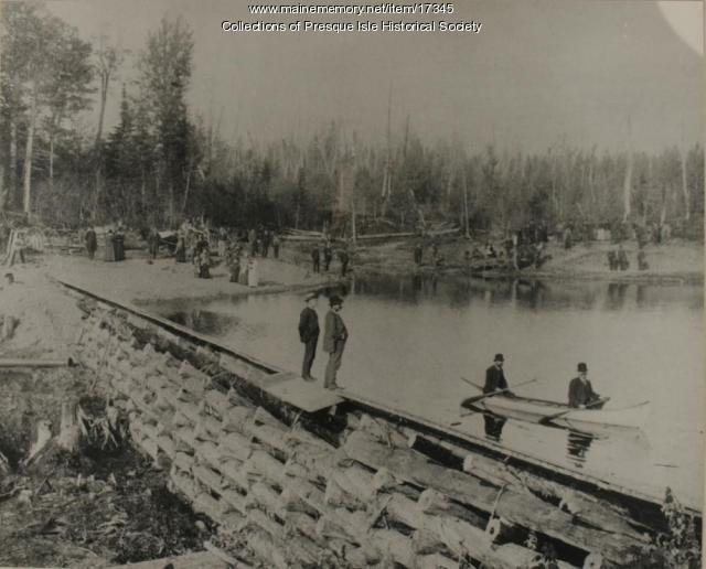 Mantle Lake, Presque Isle, 1887