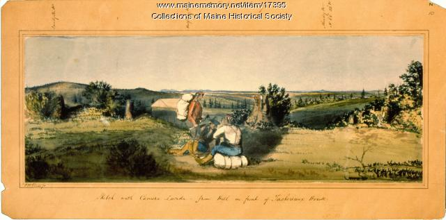 Sketch with Camera Lucida, ca 1841