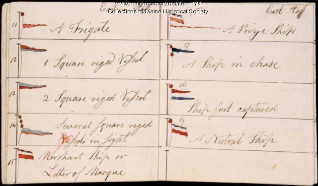 Signal flags, Portland, ca. 1800