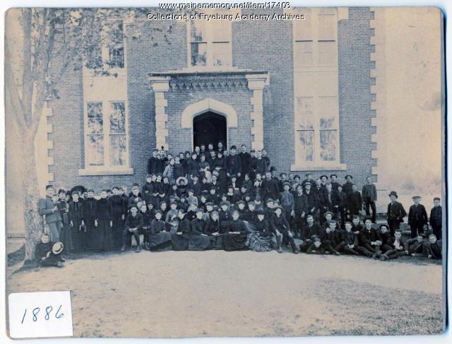 Fryeburg Academy student body, 1886