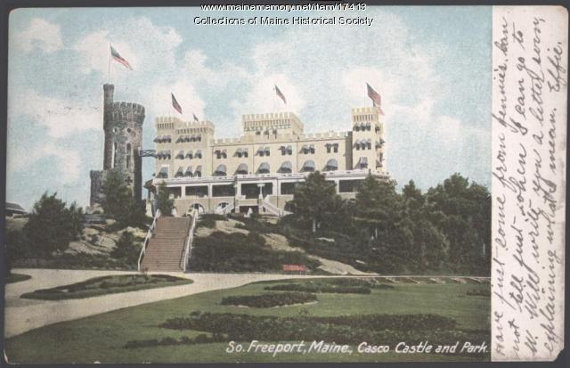 Casco Castle, South Freeport, 1908