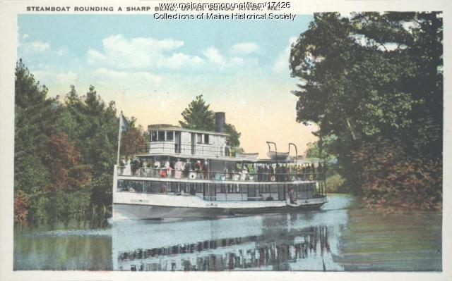 Steamboat on Upper Songo River, ca. 1925