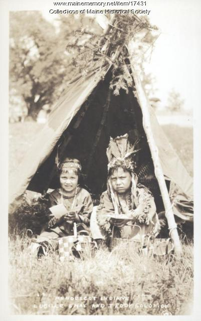 Lucille Shay and Teddy Solomon, Indian Island, ca. 1920
