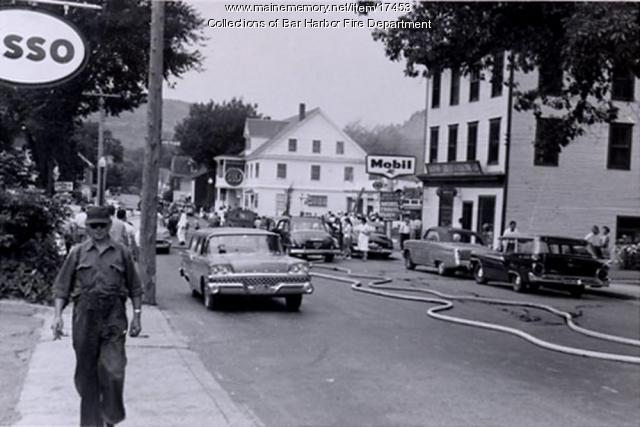 Fire in Bar Harbor, ca. 1960
