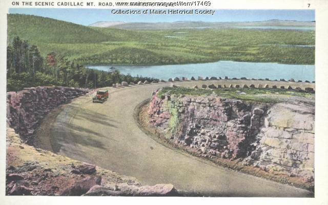 Cadillac Mountain road, Acadia National Park, ca. 1935