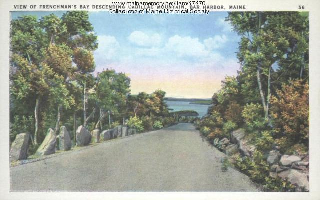 Frenchman's Bay from Cadillac Mountain, ca. 1935