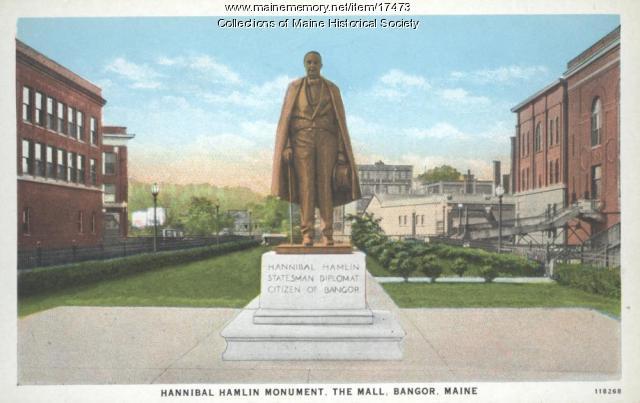 Hannibal Hamlin monument, Bangor, ca. 1935
