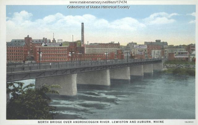 North Bridge, Lewiston and Auburn, ca. 1935