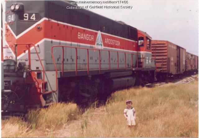 Bangor and Aroostook GP-38, Presque Isle, 1991