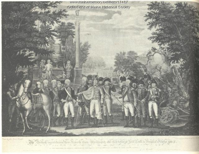 British surrender to George Washington, 1781
