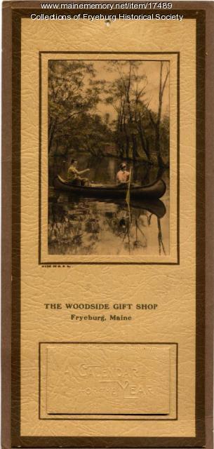 Woodside Giftshop Calendar, Fryburg, 1929