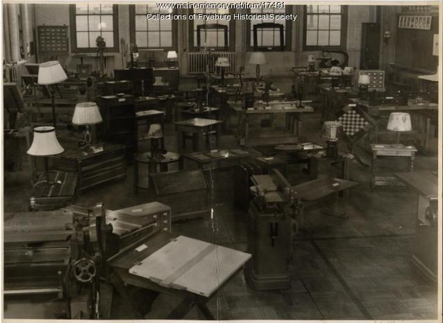 Industrial Arts Room, Fryeburg Academy, ca. 1900