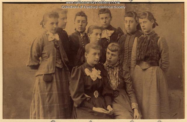 Fryeburg School Kindergarten, 1892