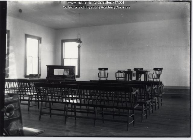 Interior of Fryeburg Academy Chapel