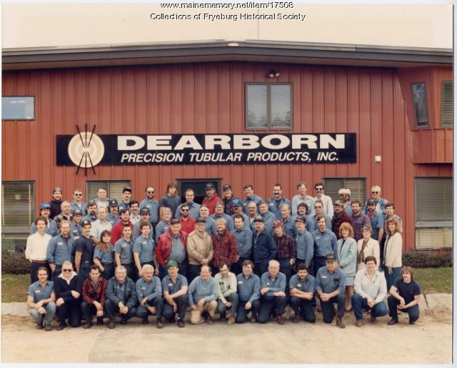 Dearborn Products employees, Fryeburg, ca. 1985