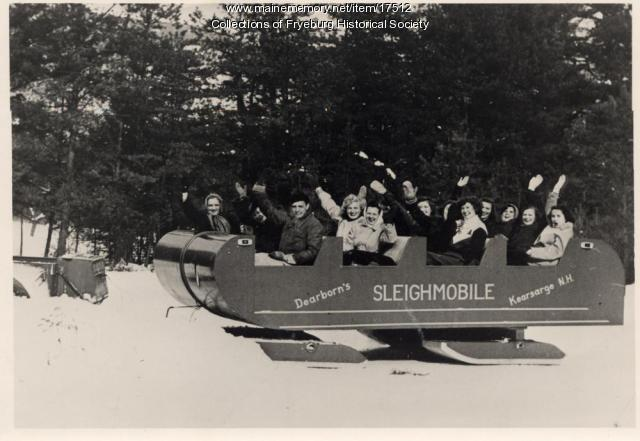 Dearborn's Sleighmobile, New Hampshire, ca. 1947