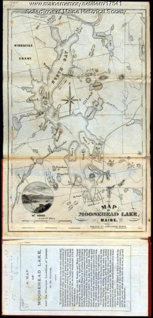 Map of Moosehead Lake, ca. 1870