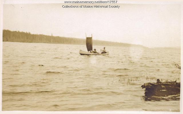 Sail up Long Lake, 1911