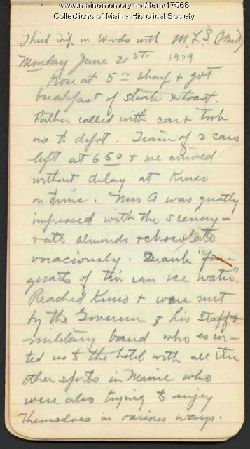 Honeymoon camping diary, 1909