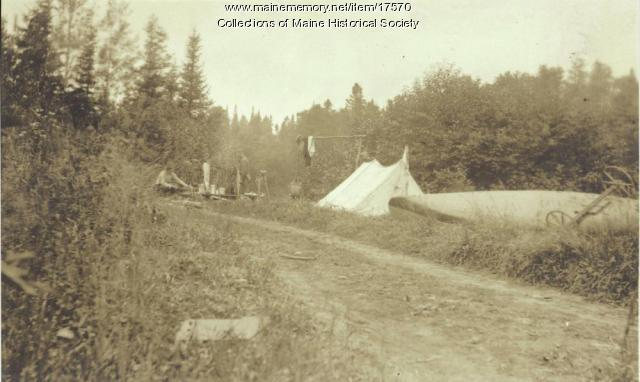 Camp site, Allagash Falls, 1911