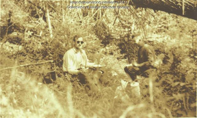 Noon lunch, Allagash River, 1911