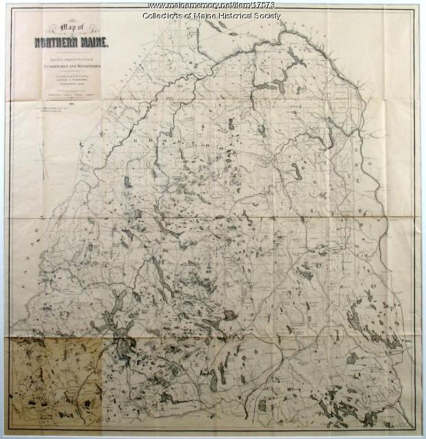 Lumbermen and Sportsmen's Map, 1894