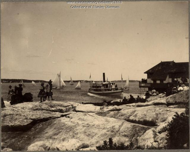 Steamer Islander at Squirrel Island, ca. 1905