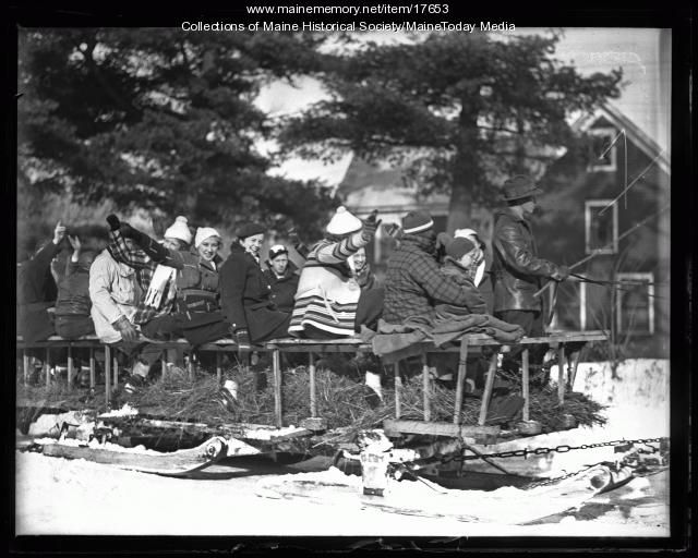 Fryeburg Ski transportation, 1936