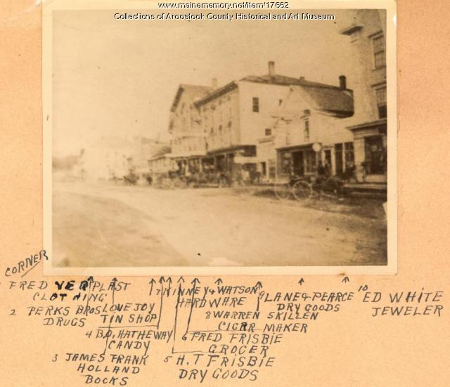 Southwest portion of Market Square, Houlton, ca. 1895
