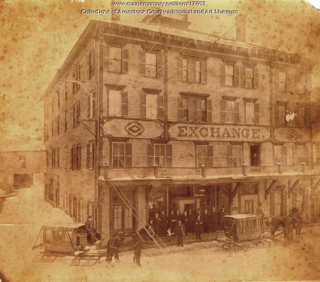 Exchange Hotel, Court Street, Houlton, ca. 1890