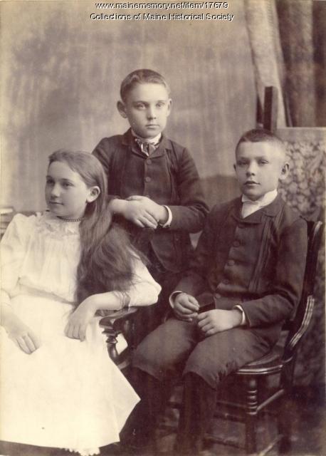 Merriman children, Harpswell, ca. 1890