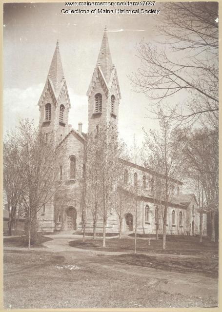 King Chapel, Bowdoin College, ca. 1920