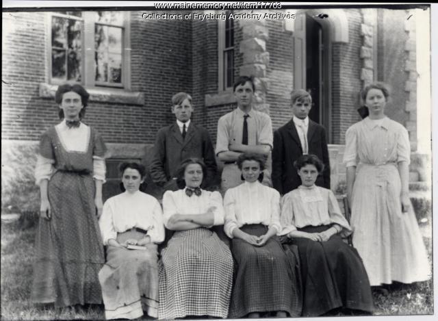 Student group portrait, Fryeburg, ca. 1906