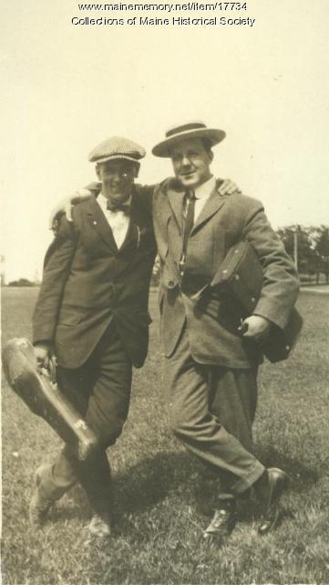 Leroy Nason and friend, Cape Cottage, 1913