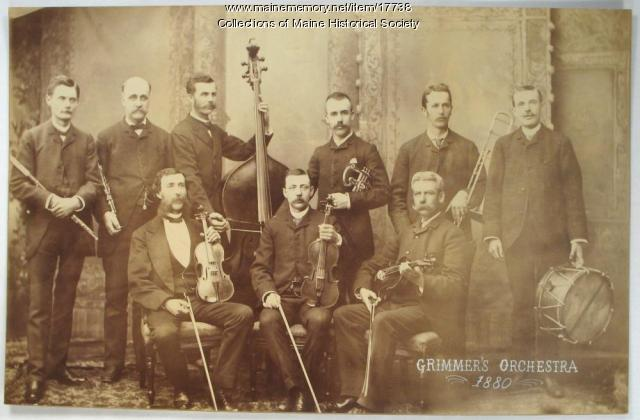 Grimmer's Orchestra, Portland, 1880