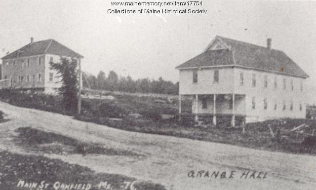 Oakfield Masonic Lodge and Grange Hall, 1910
