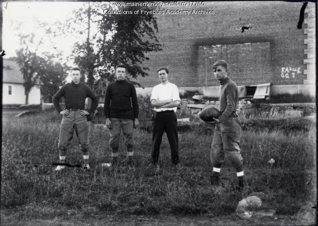 Football players, Fryeburg Academy, ca. 1909