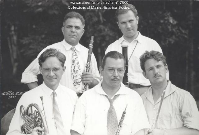Faculty Woodwind Quintet, Eastern Music Camp, 1931