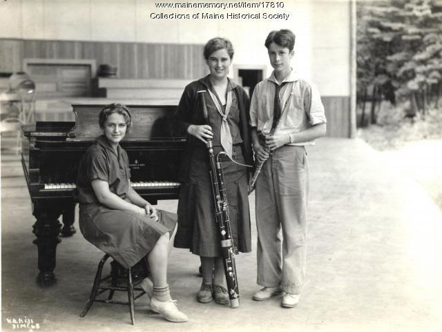 Trio, Eastern Music Camp, 1931