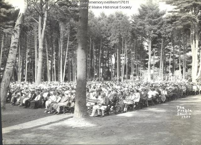 Audience, Eastern Music Camp concert, 1931