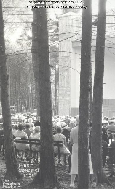 First concert, Eastern Music Camp, 1931