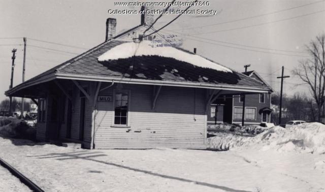 Bangor and Aroostook Railroad station, Milo, 1960