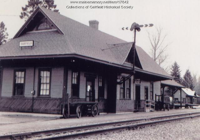 Bangor and Aroostook Railroad Station, Oakfield, ca. 1970